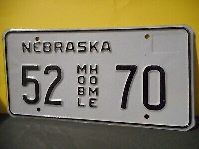 2005 Nebraska Mobile Home License Plate,Tag,United States # 52 70