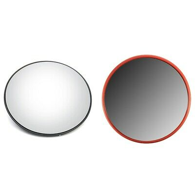 3X(30Cm Wide Angle Security Road Mirror Curved for Indoor Burglar Outdoor Safura