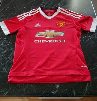 Childrens Kids Manchester United Adidas Shirt/Top  Age 11-12 Years