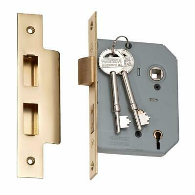 Tradco 2143 2142 5 lever mortice lock,polished brass,57 or 46 mm backset