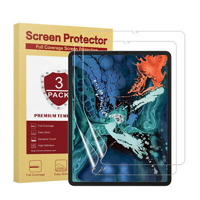 """Clear, Touch Responsive Screen Protector 3pcs for Apple iPad Pro 11"""" 2nd.G 2020"""