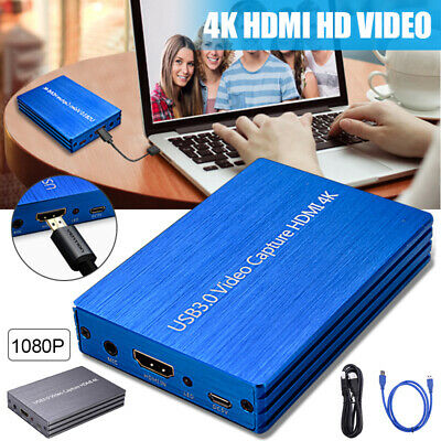 4K HD 1080P HDMI to USB 3.0 Game Capture Card Video Live Streaming Recorder Box