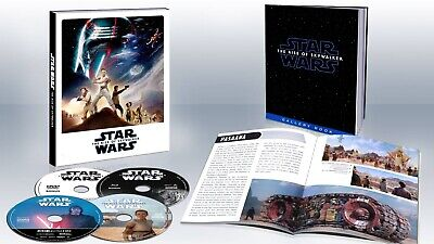 New Star Wars Rise Of Skywalker 4K Ultra Hd Blu Ray 4 Disc Target Exclusive Book