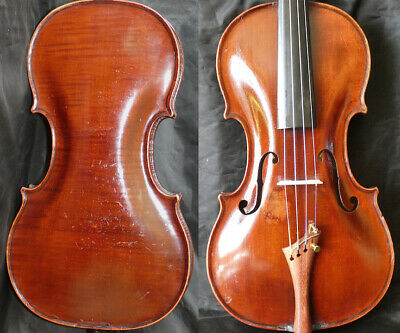 FINE ! ORIG. 4/4 ANTIQUE AUSTRIAN  BOHEMIAM VIOLIN PROKOP 19th fiddle 小提琴 ヴァイオリン