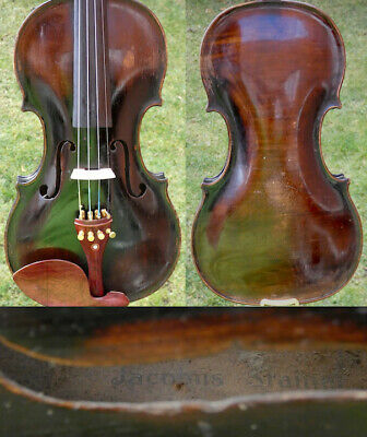 Fine 4/4 Antique Old German Master Baroque Violin : J. STEINER 19th Fiddle 小提琴