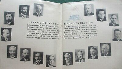 1901-1951 Commonwealth Of Aust. Jubilee Commemorate 50 Years Booklet & All P.M.