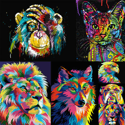 DIY Paint By Number Kit Digital Oil Painting Home Art Wall Decor Colorful Animal
