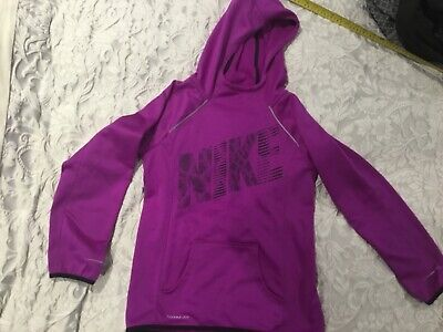 Girl's NIKE Neon Purple fItness sports hoodie Therma Fit Large 12-13 worn once