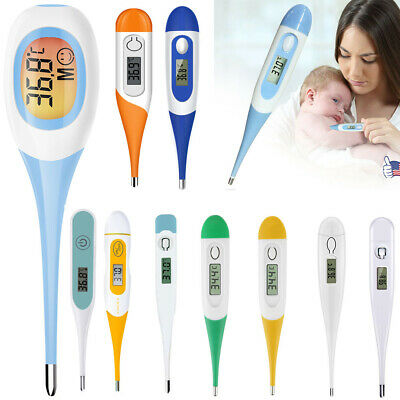 More Digital LCD Thermometer Medical Teal Body Safe Soft Electronic Thermometer