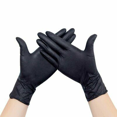 100 Black Nitrile Disposable Gloves Powder & Latex Free Medical Grade (1 BOX) MD