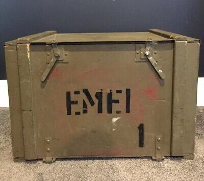 Vintage Original Ammunition Box, Ammo Chest, Military Collectable, Army Storage