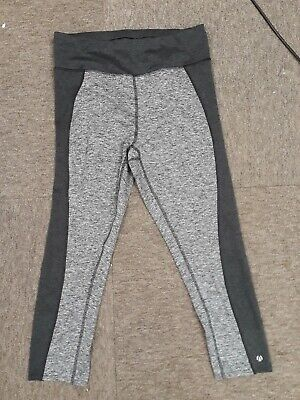 M&S Active Sports Leggings - Size 12 - Grey Mix