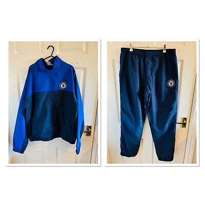 Blue Chelsea Football Club Tracksuit Top Bottoms Size XL (4774)