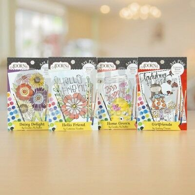 ADORNIT Home Grown Mini Watercolor Books. Bundle of 4 Colouring Books ONLY £3.99