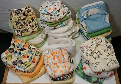 22 Cloth diaper All in one/pocket insert lot