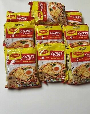 Maggi Instant Noodles Curry Flavour Pack Of 6 Ready in 2 Min Brand New