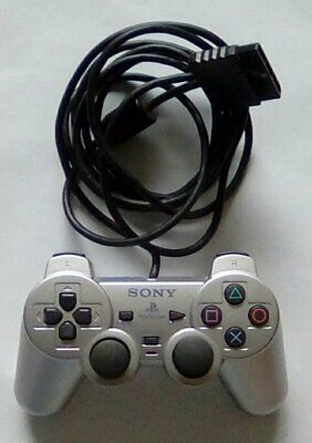 Official SONY Silver PlayStation Two Dualshock Controller PS2 PS 2 SCPH-10010