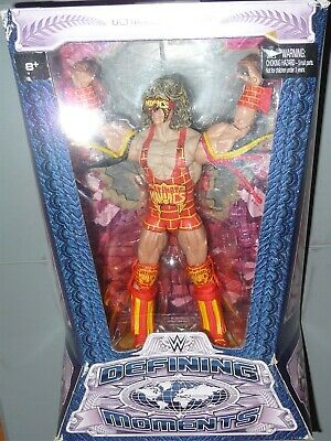 ULTIMATE WARRIOR - WWE Mattel Defining Moments Elite Action Figure VERY DMG PKG