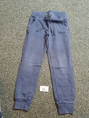Girls Age 5-6 Blue Jogging Bottoms From Marks And Spencer's