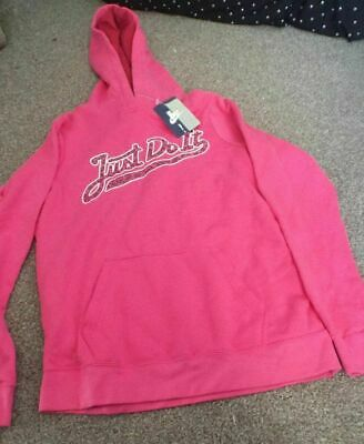 Girls Nike Over The Head Junior Hoodie 2 Pockets Pink  Size XL 13-15yrs  New