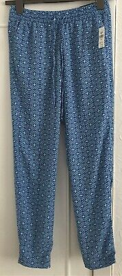Ladies GAP Blue Pattern Casual Elasticated Waist Trousers Size Small - BNWT