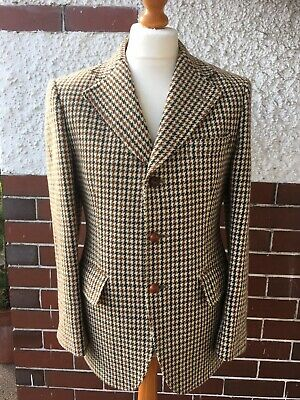 Harris Tweed Vintage Dunn & Co Dogtooth Jacket Size 38R