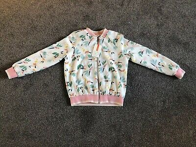 John Lewis Girls Floral Bomber Jacket. Age 9 Years. New With Tags. RRP £26