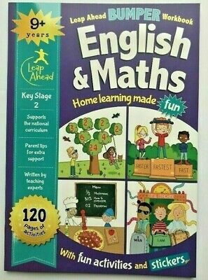 Leap ahead Maths and English Bumper Workbook KS2 Ages 9+ New!!!!