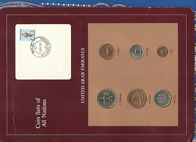 Coin Sets of All Nations United Arab Emirate UNC All 1989 but 1 Fil 1988 FALCON