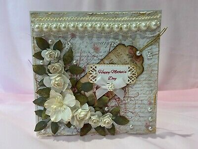 Handmade Any Occasion Card Mum Wife Daughter Friend - Shabby Chic & 3D