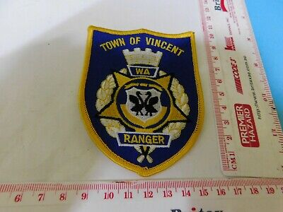 Town of Vincent WA Ranger Patch Obsolete Rare