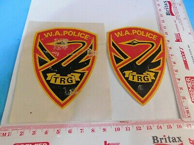 WAPOL 2 V/Old TRG Police Patches Rare