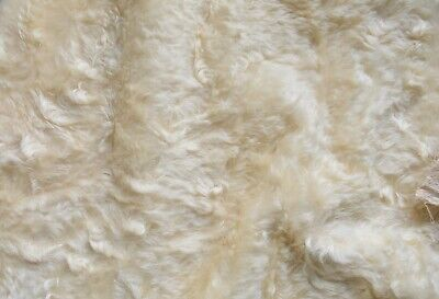 Luxurious top of the range, ivory/cream Kurl mohair.