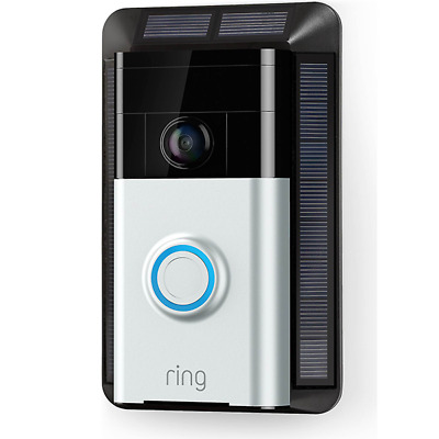 Ring Video Doorbell Solar Charger Black 8ASMS7-0EN0 Power Source and Mounting