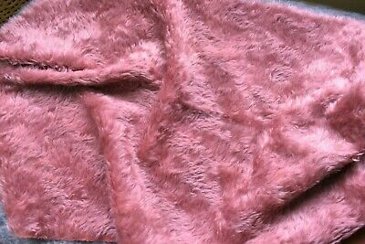 Hand dyed, Schulte Dk Rose Kurl Mohair. Luxurious dense fur.