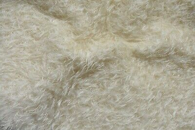 Schulte Ivory Curly Metallic Ratinee Mohair. A beautiful quality fur.