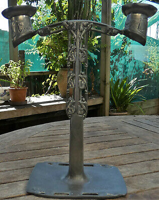 PEWTER Candleabra by Archiebald KNOX Celtic ART NOUVEAU Movement 1902 ANTIQUE