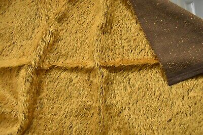 Bright Rusty Gold Mohair with Dark Brown Back
