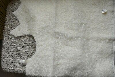 Schulte White Curly Ratinee Mohair. A beautiful quality fur.