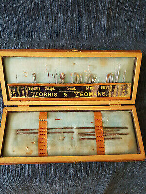 Vintage Sewing Needle Case Morris & Yeomans Forget Me Not Needle Case