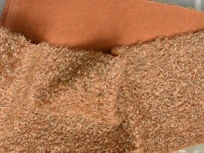 Short Felted Rusty Quality Mohair with Orange backing.