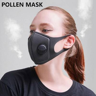 10pc Anti Haze Pollution Breathable Mask with Valves Washable Face Mouth Masks