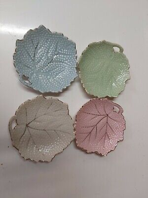 butter dishes vintage, 4  different colors