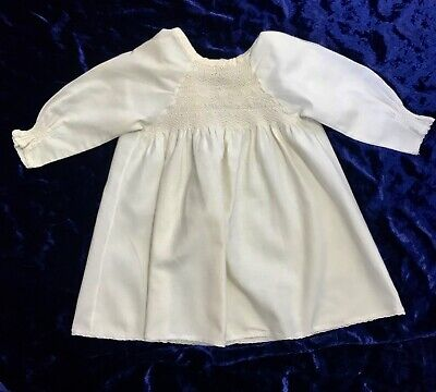 Vintage New Born Baby Smocked Night Gown Dress Handmade  original 1900s