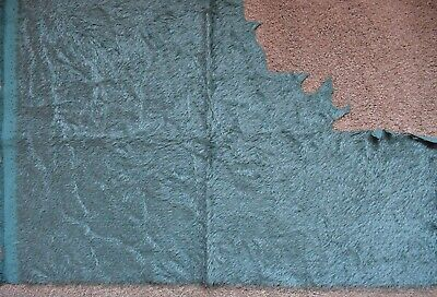 Blue/Teal Antique Crushed Mohair. Great for Vintage Bears.