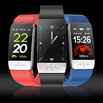 T1 Smart Bracelet Body Temperature Thermometer IP67 Blood Pressure Monitor Watch