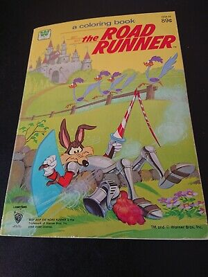 Vintage The Road Runner Coloring Book~Whitman 1981