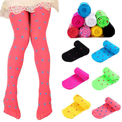 Children's Cute Polka Dots Tights Girls Soft Comfortable Elastic Pantyhose