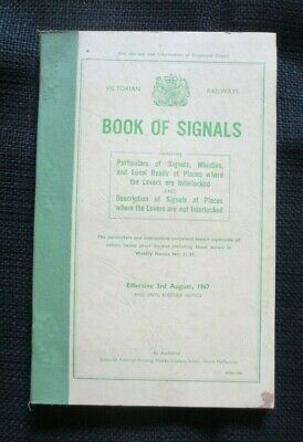 1967 Book Of Signals Victorian Railways Particulars Of Signals Whistles And Loca