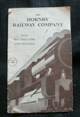 Circa 1950's The Hornby Railway Company With Boy Directors And Officials Booklet